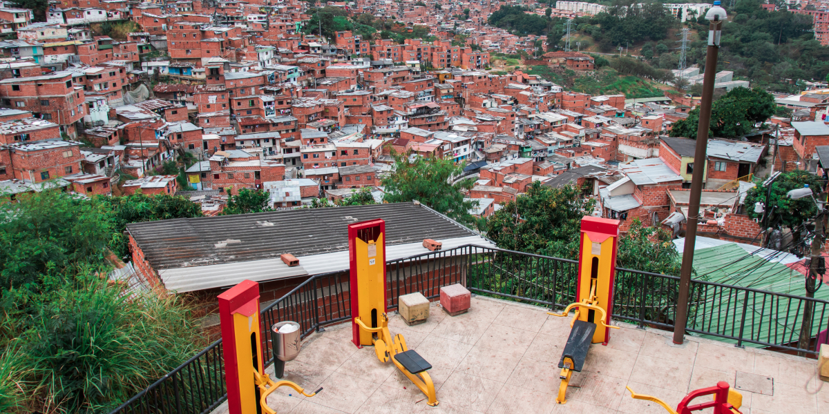 Exercise station in Comuna 13, Medellin