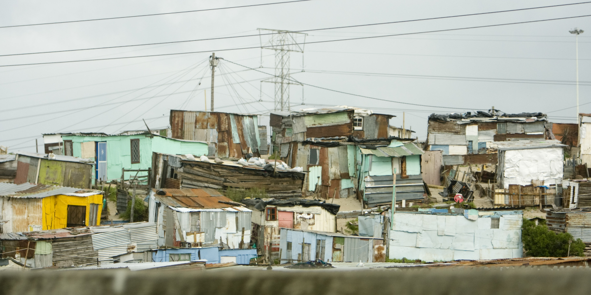 informal settlement or township near Cape Town, South Africa.