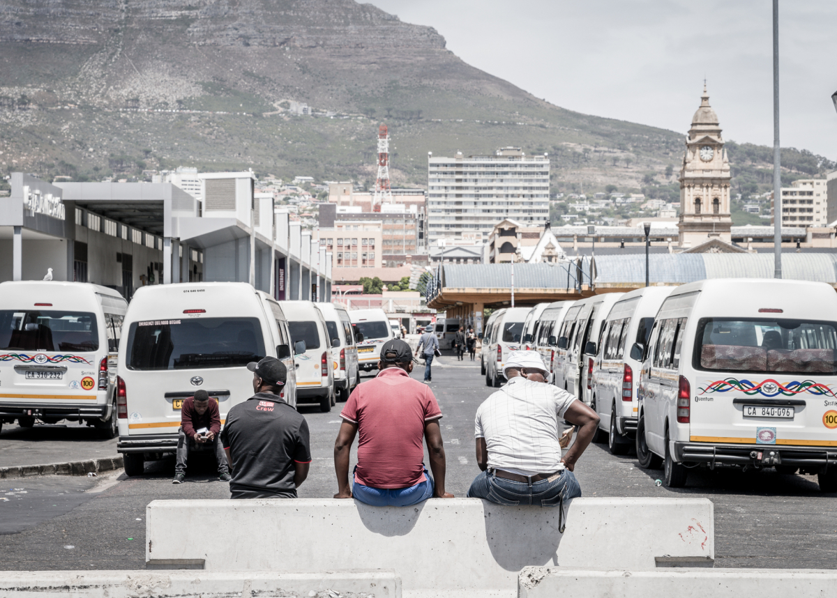 Taxi drivers, Cape Town, South Africa. Credit: Alexeys, iStock