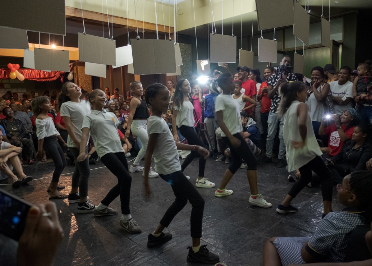 young dancers celebrate Reclaim the City's two-year anniversary