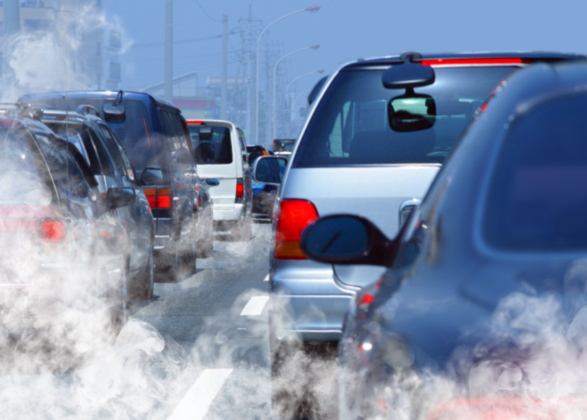 traffic fumes from cars