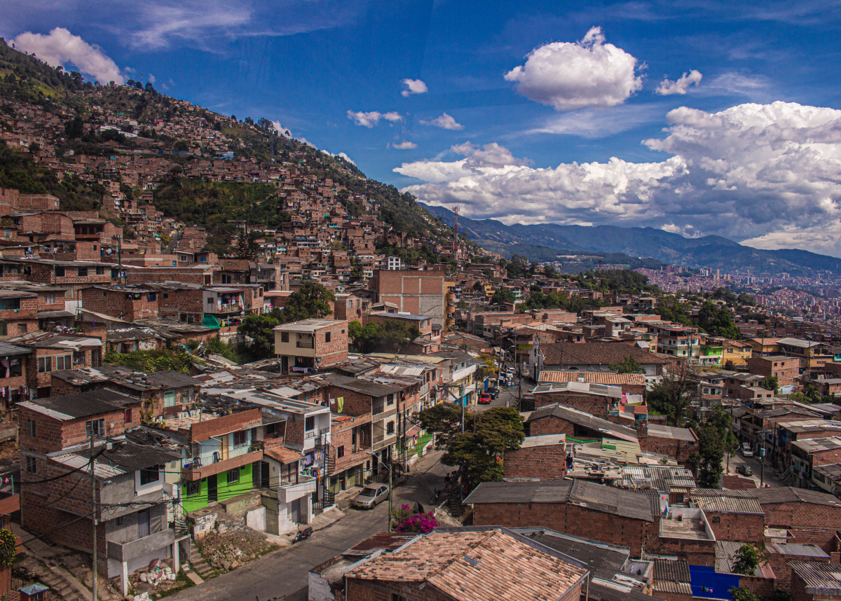 view of peri-urban Medellin