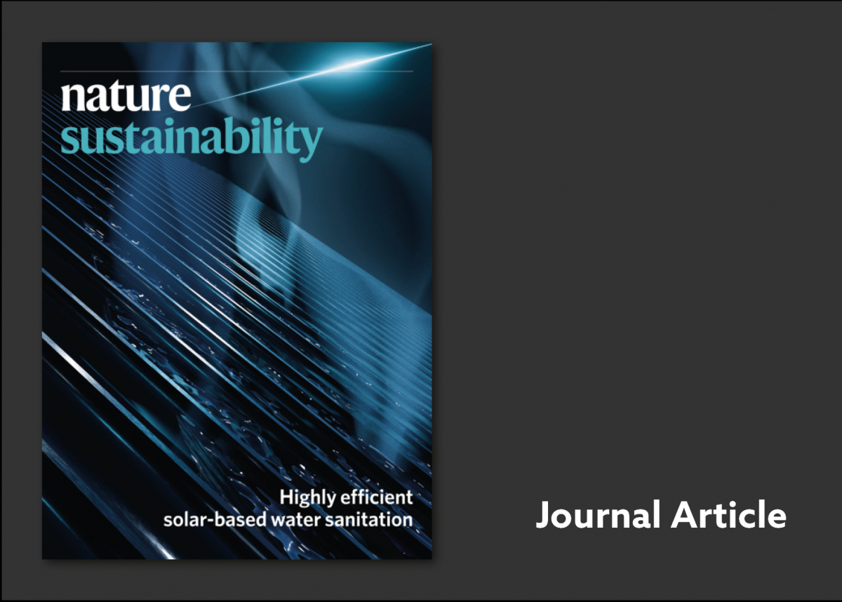 Nature Sustainability cover