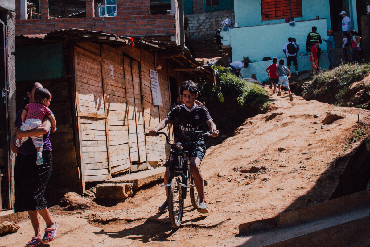 boy with bicycle, Medellin